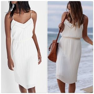 Express Ivory Pleated Dress